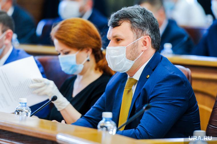 Первая сессия нового состава Законодательного собрания Челябинской области. Челябинск