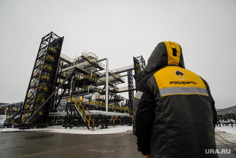 Церемония ввода в эксплуатацию комплекса месторождений Эргинского кластера в Кондинском районе. Ханты-Мансийск