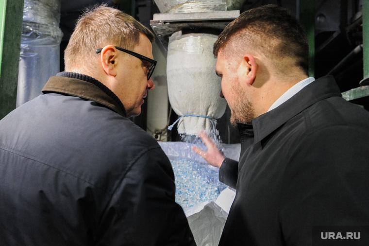 Поездка Алексея Текслера на предприятие по переработке пластика «Втор-Ком». Челябинск