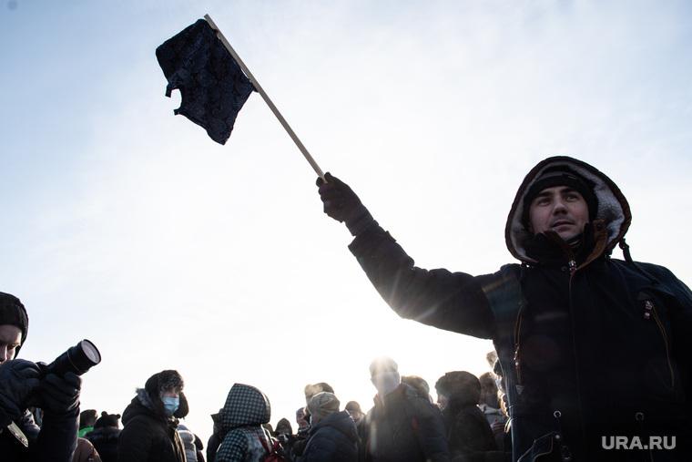 Несанкционированный митинг в поддержку оппозиционера. Екатеринбург