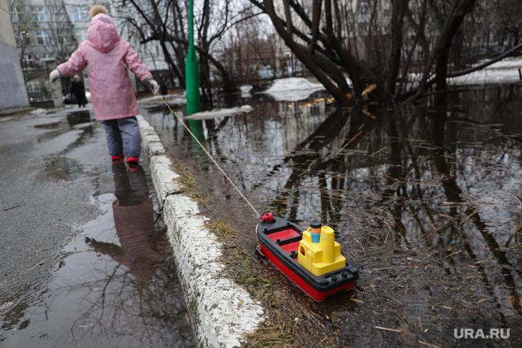 Дождь и затопленные парки. Екатеринбург