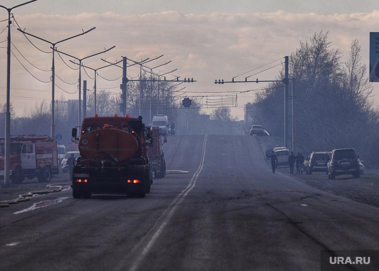 Пожар на шоссе Тюнина. Курган