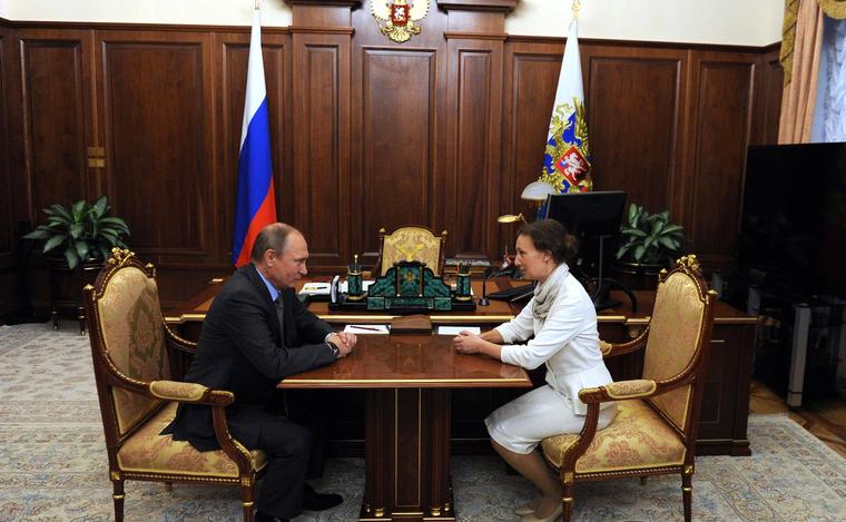 Анна Кузнецова назначена Уполномоченным при Президенте по правам ребёнка.Москва, Кремль