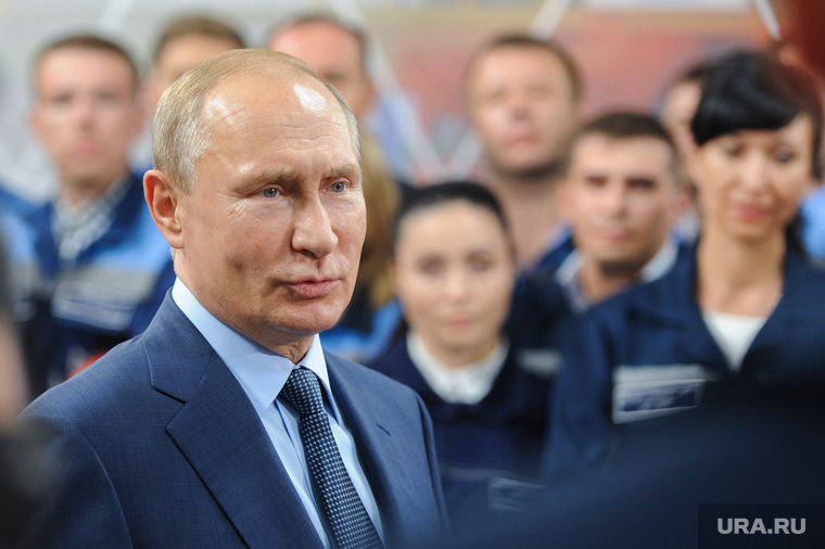 Визит Президента РФ Владимира Путина на открытие Аглофабрики ММК. Челябинская область