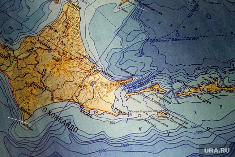 Географическая карта, Курильские острова. Москва