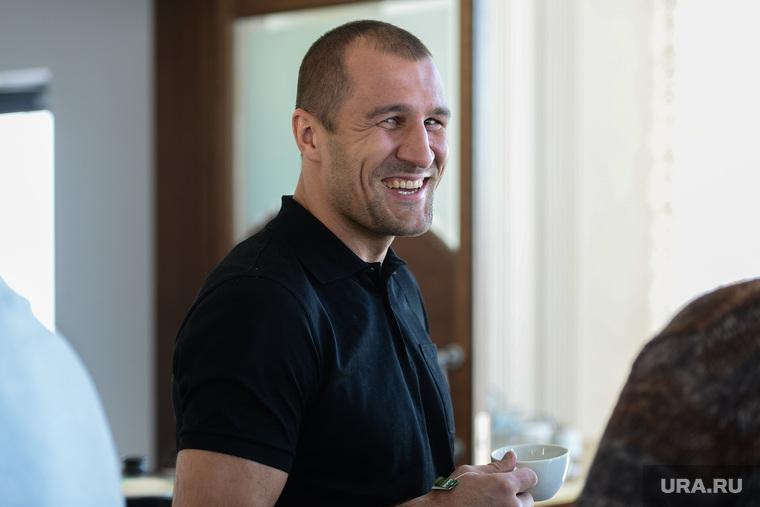 Пресс-конференция с чемпионом мира по боксу по версии WBO Сергеем Ковалевым. Челябинск