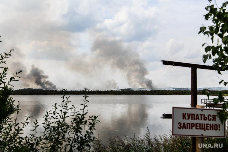 Тушение пожара в лесу на озере Глухое. Екатеринбург