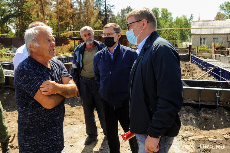 Поездка полпреда Владимира Якушева и Алексея Текслера в районы пострадавшие от пожаров. Челябинск