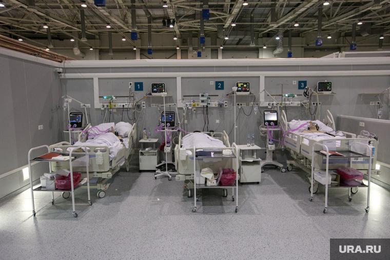 Временный госпиталь  ГКБ №24  для больных COVID-19 на ВДНХ. Москва