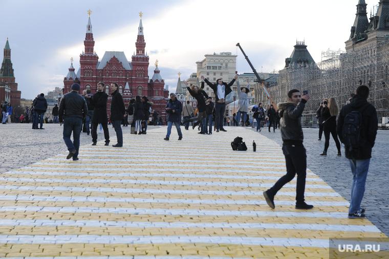 Разметка на Красной площади. Москва