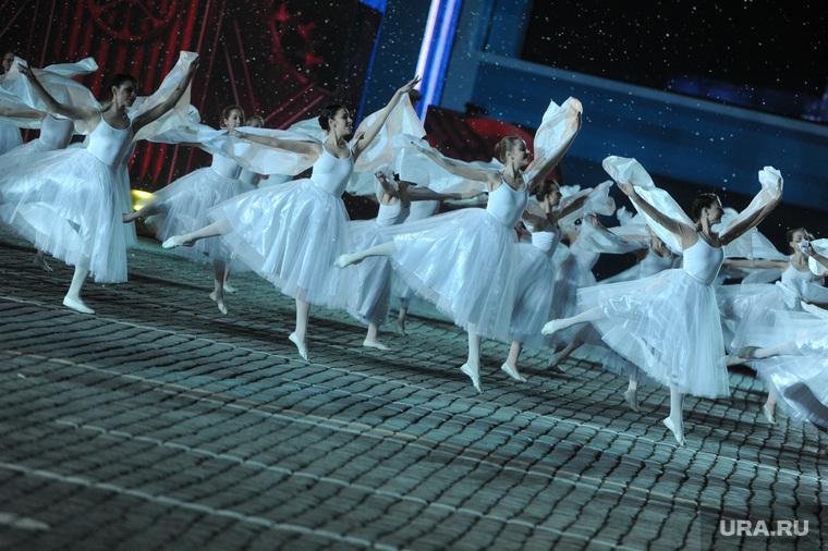 Концерт и салют на Красной площади. Москва, балет