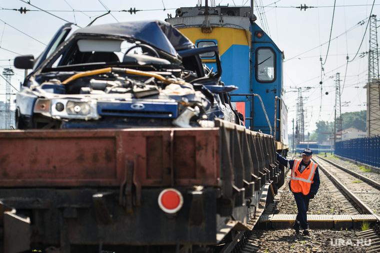 Агитпоезд РЖД по безопасности на железнодорожных переездах. Екатеринбург