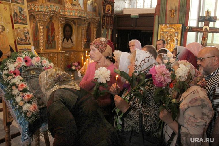 Встреча чудотворной Югской иконы Курган, прихожане, югская икона
