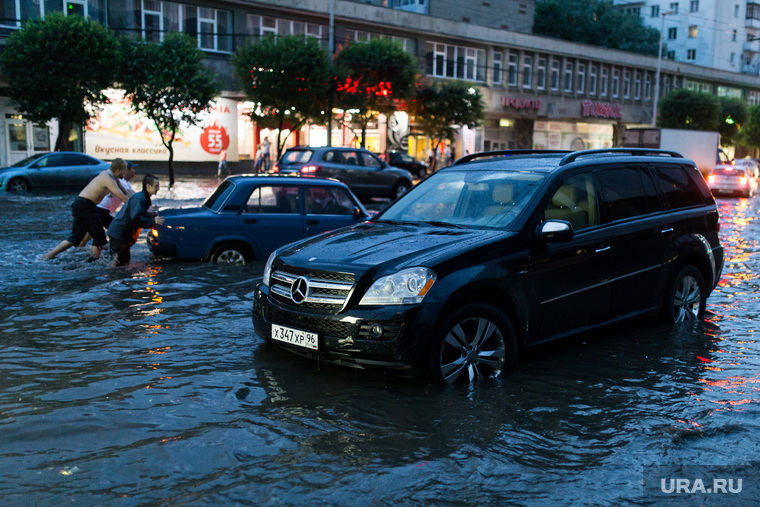 Последствия ливня г. Екатеринбург, потоп, ливень, наводнение, дождь