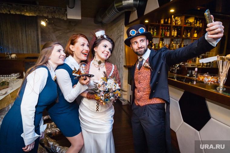 Стимпанк свадьба. Екатеринбург, свадьба, сэлфи