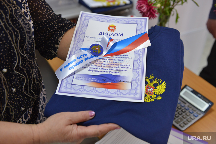 Выборы. Челябинск., диплом, футболка, значек, для впервые голосующих