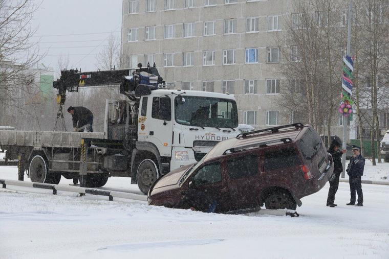 Авария. Снег