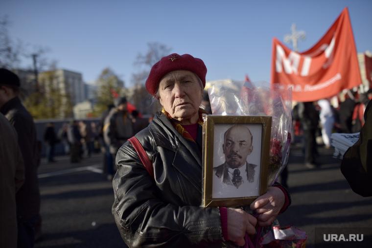 Митинг КПРФ на площади Революции. Москва. , митинг коммунистов, ленин владимир