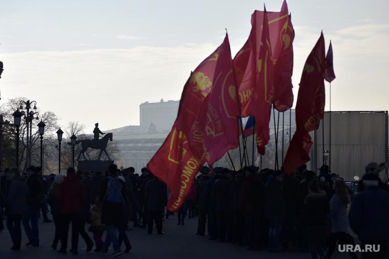 Митинг КПРФ на площади Революции. Москва. , митинг кпрф, площадь манежная, жуков георгий