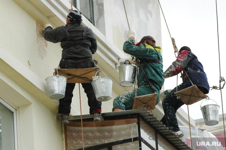 Дом с проблемными балконами. Челябинск., косметический ремонт, альпинисты, верхолазы