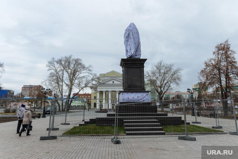 Город в преддверии Российско-Казахстанского форума. Челябинск, памятник столыпину