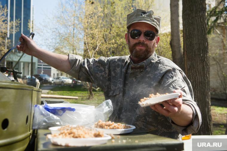 Субботник в парке Вайнера. Екатеринбург, полевая кухня