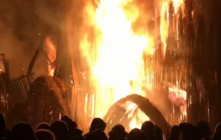 В Калужской области на Масленицу сожгли собор. ВИДЕО