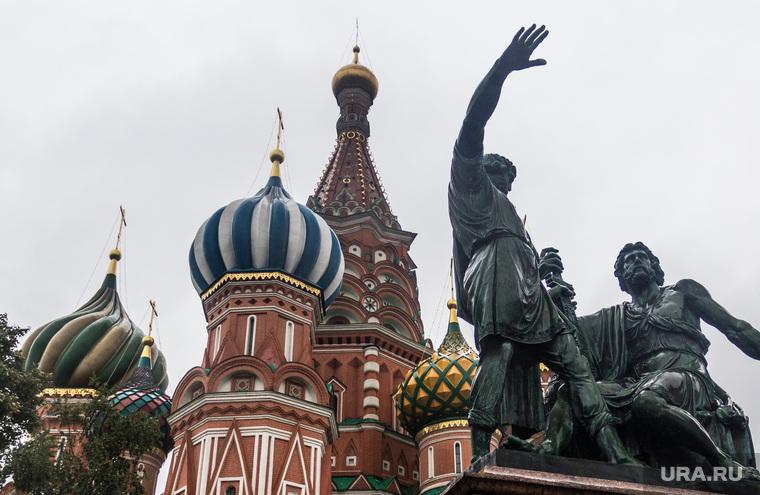 Клипарт. Москва. Сентябрь 2013 год, храм василия блаженного, москва, памятник, минин и пожарский