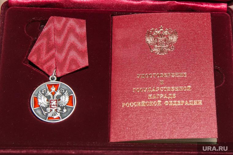 Совещание у губернатора. Курган, награда, медаль ордена за заслуги перед отечеством 2степени