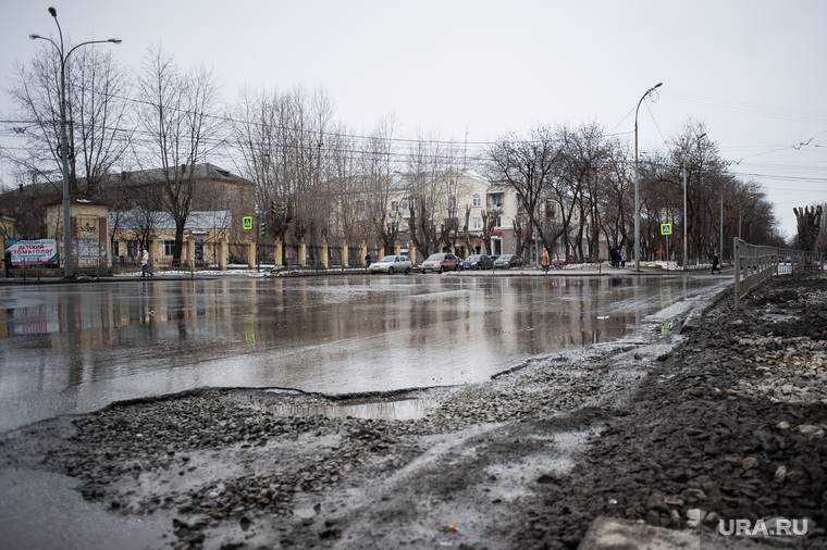 Состояние дорог Екатеринбурга, улица кировоградская, разбитая дорога, перекресток кировоградская орджоникидзе