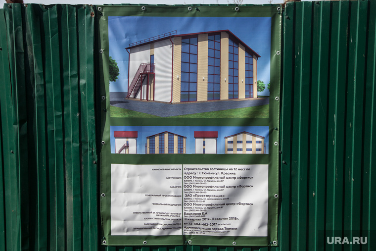 Здание строящейся гостиницы по ул. Красина. Здание МВД., паспорт объекта