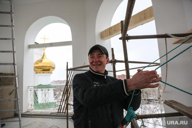 Освящение и установка колоколов в Благовещенском соборе. Тюмень, ракша игорь, колокольня