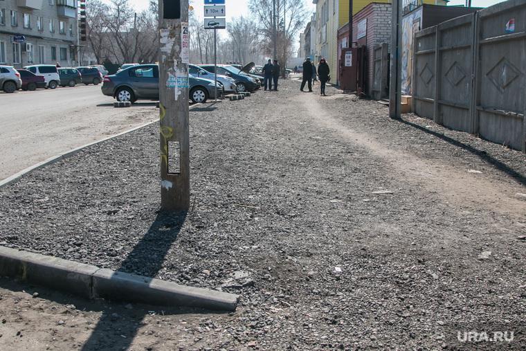 Рейд инспекции ОНФ по городским дорогам. Курган, тротуар, пешеходная зона, улица тимофея невежина