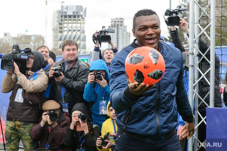 Открытие футбольного парка в Историческом сквере Екатеринбурга