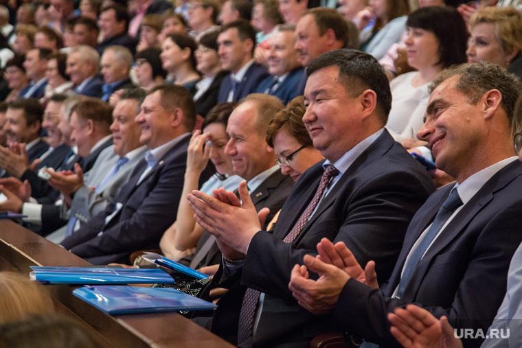"""Праймериз кандидатов в губернаторы от партии """"Единая Россия"""".Тюмень, апплодисменты, зрители"""