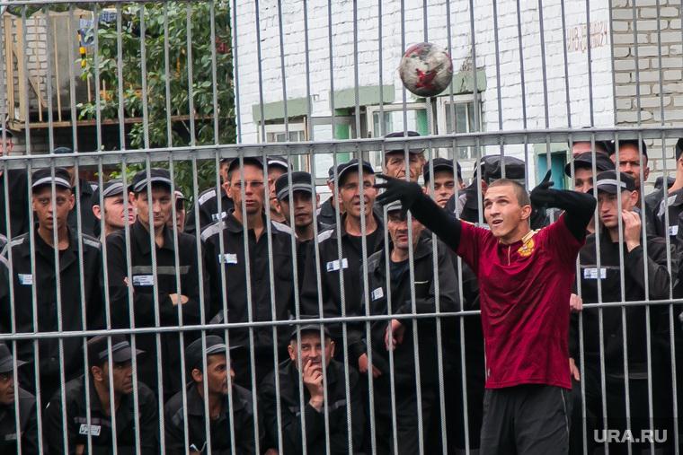 Футбольный матч между командами Курганской областной Думы и заключенными колонии №6. Иковка. Курганская обл, футбольный матч, футбол