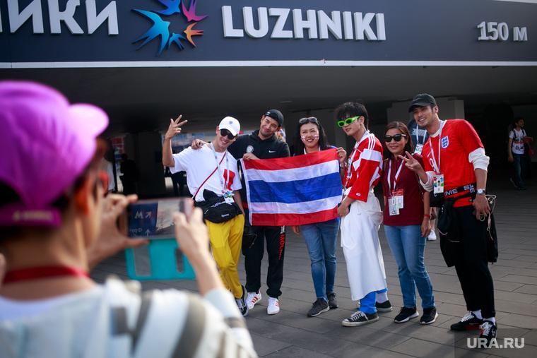 """Стадион """"Лужники"""" перед матчем полуфинала Чемпионата Мира FIFA 2018 Англия-Хорватия. Москва"""