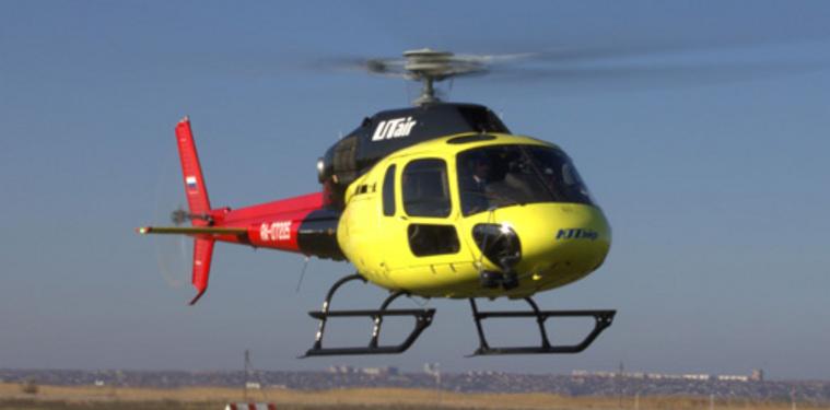 В ХМАО вертолет из-за сильной метели приземлился в болото
