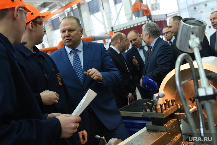 Визит полпреда Николая Цуканова на Северский трубный завод. Полевской