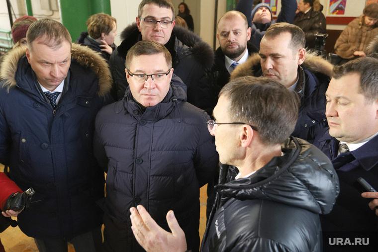 Рабочий визит главы Минстроя Владимира Якушева на продольный водопровод. Курган