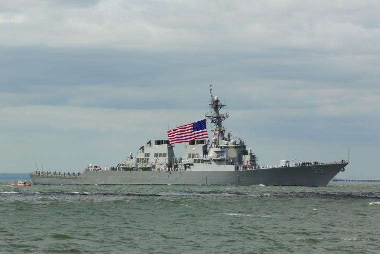 Опубликованы снимки американского эсминца в Черном море. ФОТО