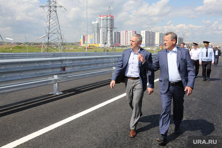 Объезд города губернатором Александром Моором и главой города Русланом Кухаруком. Тюмень