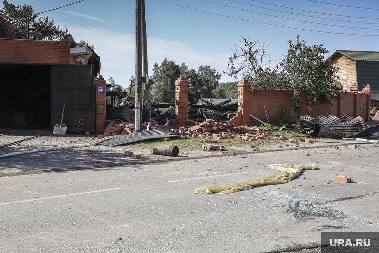 Взрыв газа в жилом доме по ул. Набережная в посёлке Боровский. Тюмень