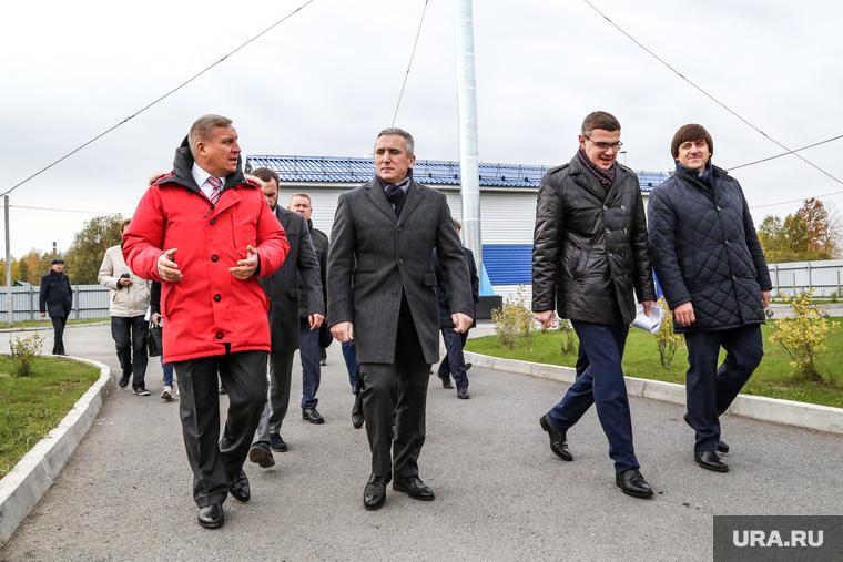 Открытие Соколовского водозабора в г. Тобольск, губернатором Тюменской области Александром Моором и Алексеем Бобровым. Тобольск