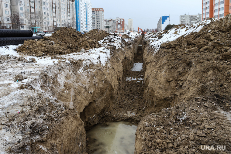 Ремонтные работы на ул. Мальцева. Курган