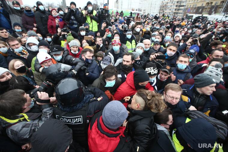 Несанкционированный митинг в поддержку Алексея Навального. Москва