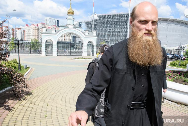 Схиигумен Сергий после заседания епархиального суда Екатеринбургской епархии. Екатеринбург