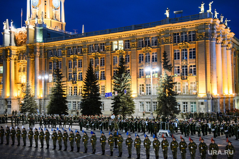 Репетиция парада Победы на Площади 1905 года. Екатеринбург