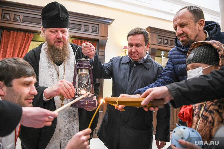 Прибытие благодатного огня в Екатеринбург. Екатеринбург