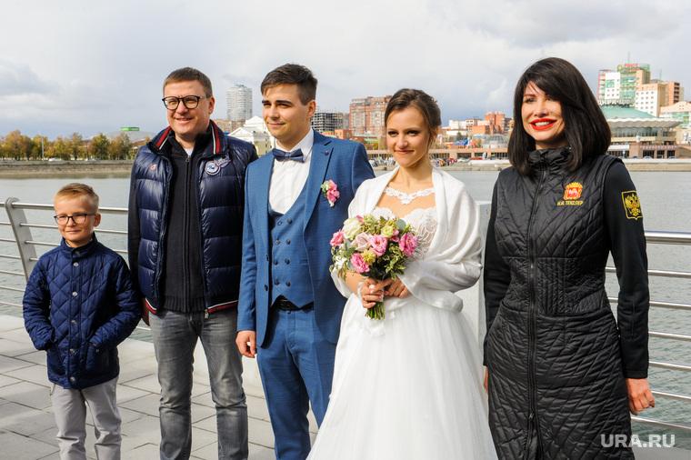 Алексей Текслер на открытии новой набережной. Челябинск